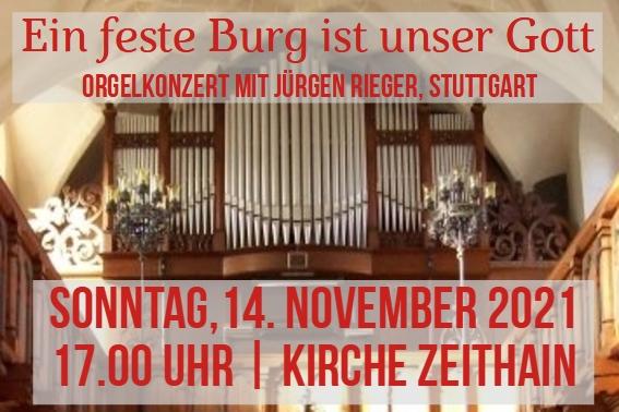 Banner Orgelkonzert in Zeithain
