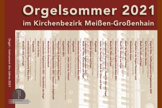 """Banner """"Orgelsommer 2021"""""""