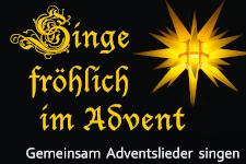 Banner Singe fröhlich im Advent